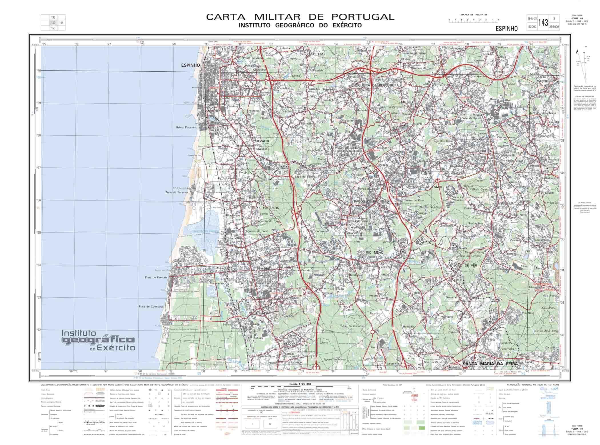 mapa militar portugal GPS CARTAS MILITARES • GeoPT.  Portugal Geocaching and  mapa militar portugal
